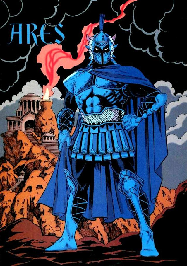 The film bases its Ares on the 1980s version. (Credit: DC Comics)