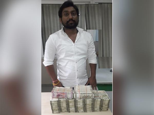 One person was caught for Hawala money operations by Telangana Police on Wednesday. [Photo/ANI]