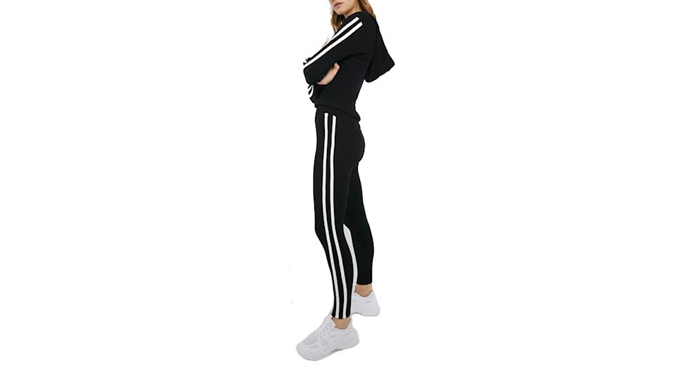 Sporty Stripe Knitted Lounge Set