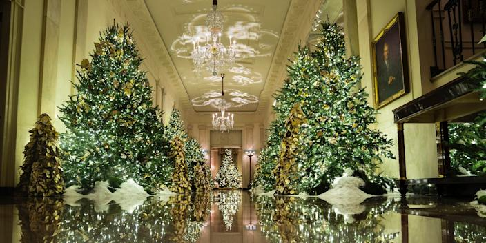 White house christmas decorations 2019 trump