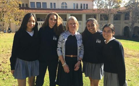 """Students and staff at Meghan Markle's former secondary school were still buzzing on Tuesday with the news that someone who studied at their schoolthem was marrying into the Royal family. Ms Markle, 36, was a student at the Immaculate Heart girls' school, in the Los Feliz area of Los Angeles, for her middle and high school education – from 11 to 18. In her high school year book, on a page where her fellow students had to comment on their peers, Ms Markle's word was: """"Classy"""". Meghan Markle, in the 1999 high school yearbook Credit: Harriet Alexander Gigi Perreau, a Hollywood film star in the 40s, 50s and 60s, taught Ms Markle drama for four years, and said she knew her student would go far. """"I have nothing but good things to say about Meghan,"""" she told The Telegraph. """"She was a wonderful student, a lovely girl even then, and very hard working. She was very dedicated. I knew she would be something special."""" Ms Perreau, 78, is now retired, but she began her Hollywood career aged two, when she played Greer Garson's daughter in Madame Curie in 1943. She had starred in 25 films by the age of 10, and was one of the most recognisable child stars of her generation. She worked on set with Nancy Reagan in the 1950 thriller Shadow on the Wall, and played Fredric March's daughter in the post-war classic The Man in the Gray Flannel Suit – being honoured with a star on the Hollywood Walk of Fame. Ms Perreau in The Rifleman, in 1961 Ms Markle played the lead role in most of the plays Ms Perreau directed at the school. """"She was particularly delightful as the secretary in the play Annie. She had her own solo number. I remember her being very excited and nervous about her song,"""" she recalled. """"I do know that she was very active in my drama department. We never had a moment's problem with her, she was spot on, learnt her lines when she had to, very dedicated, very focused."""" Ms Markle's father Thomas was an Emmy-award winning lighting director, who volunteered to help with school plays –"""