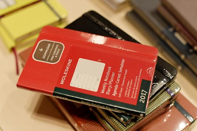 Sales of the Italian group Moleskine have more than tripled in the last seven years (AFP Photo/TIZIANA FABI)