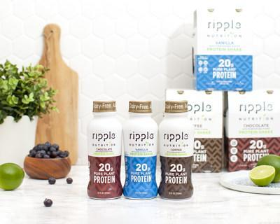 Available in Chocolate, Vanilla and Coffee, Ripple Plant-Based Protein Shakes are available in retailers nationwide like Target, Giant, Wegmans, Big Y, Gelsons and 7-11.