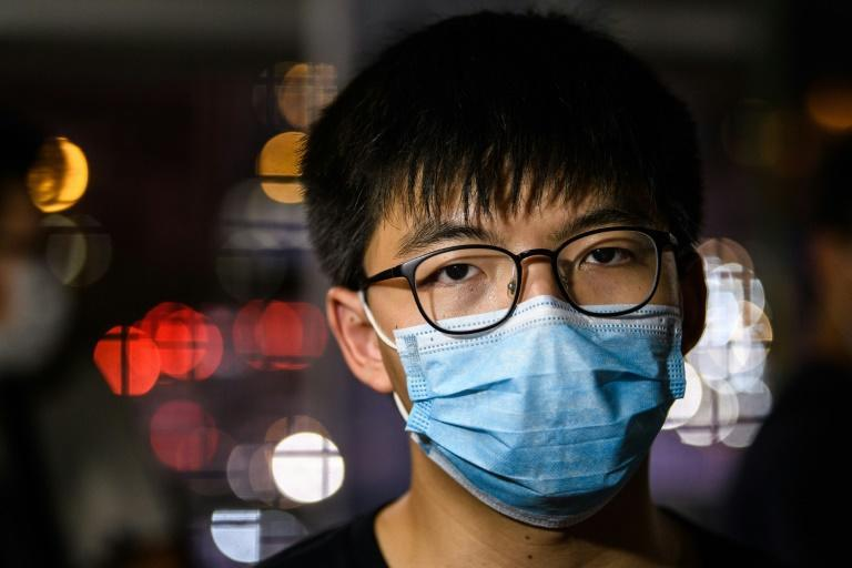 Joshua Wong, 24, has already spent time in prison for leading pro-democracy protests