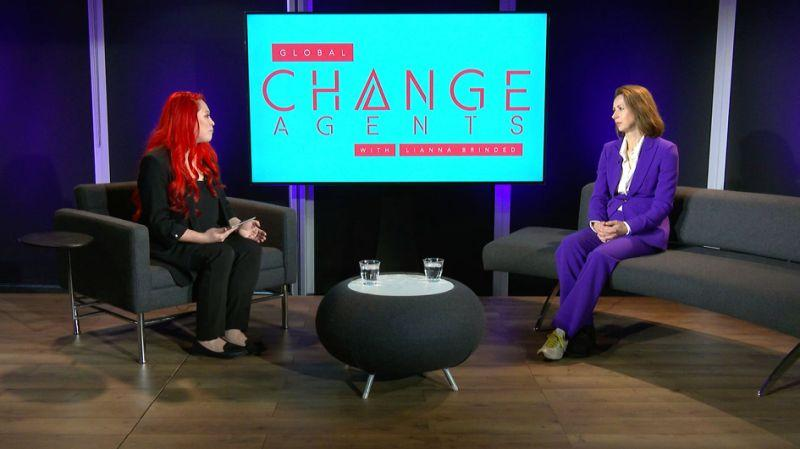 Lianna Brinded speaks to Dame Helena Morrissey on Global Change Agents with Lianna Brinded. Photo: Yahoo Finance