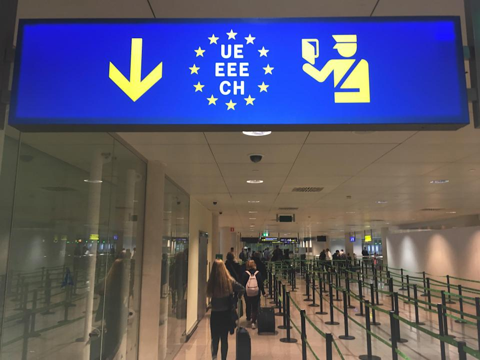 Line up: From 1 January 2021, British visitors to the European Union will not be able to use the fast-track passport queues (Simon Calder)