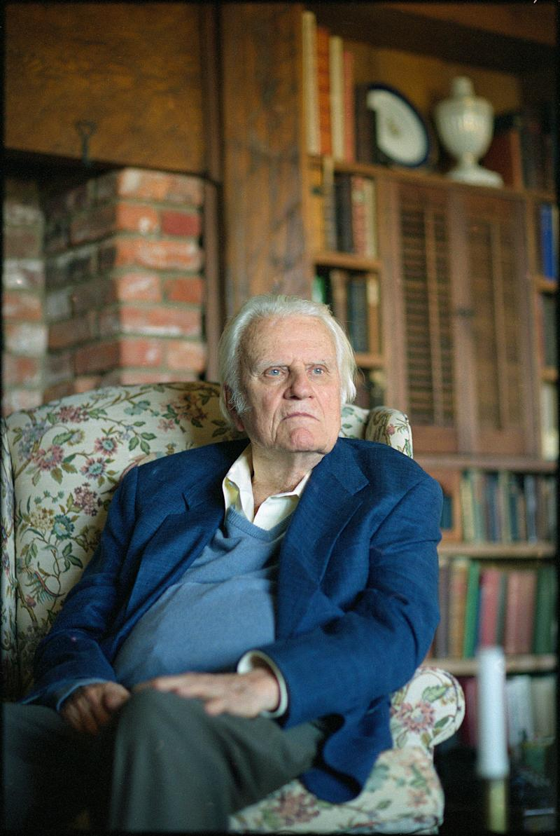 The Rev. Billy Graham at his home in Montreat, N.C. in 2007.