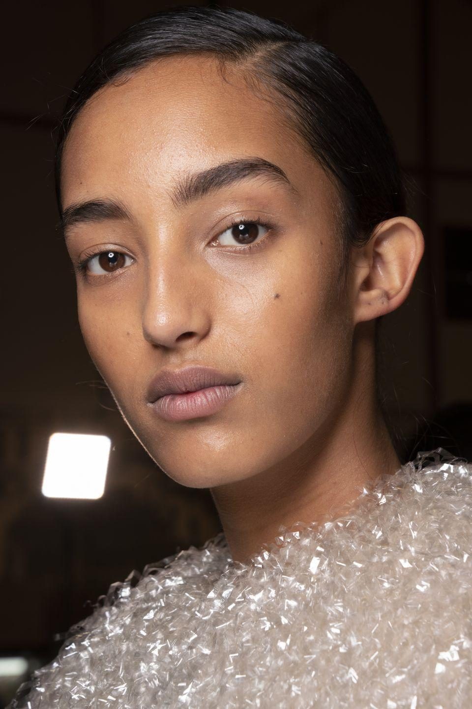 <p>The word from backstage at the shows was to put your skin first, with foundation-free faces seen at Etro, Hugo Boss and JW Anderson. </p>