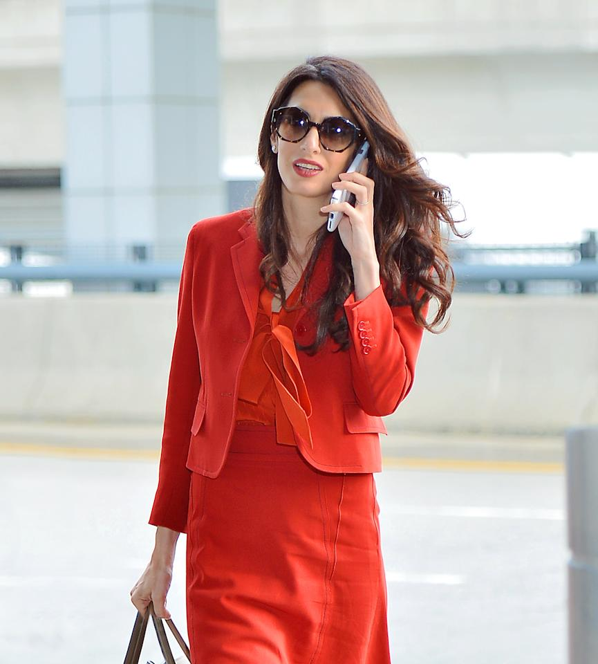 <p>After enjoying a more low-key summer following the birth of her twins Ella and Alexander back in June, Amal Clooney was spotted in the streets of Manhattan on Thursday as she returned to work at the United Nations… <em>(Photo: Splash News)</em><br /><br /></p>