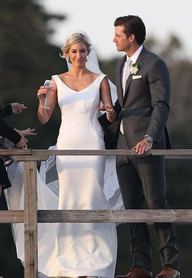 "<p>She finally got her happy ending! Bischoff, who was given Chris Soules's final rose on the season finale of <em>The Bachelor</em> in 2014 (before calling it off six months later), said ""I do"" to Angel at the Wequassett Resort and Golf Club on Cape Cod in Massachusetts, on Saturday. Former Bachelorette Kaitlyn Bristowe and her fiancé, Shawn Booth, as well as <em>Bachelor in Paradise</em> cuties Carly Waddell and Evan Bass were in attendance to watch their pal make it official. (Photo: Patriot Pics/BACKGRID) </p>"
