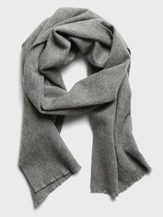 <p>This <span>Banana Republic Wool Dress Scarf</span> ($60) looks polished and professional but still keeps him warm.</p>