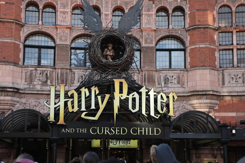 The Palace theatre showcasing Harry Potter and the Cursed Child in London. PA Photo. Picture date:Thursday January 16, 2020. Photo credit should read: Luciana Guerra/PA Wire (Photo by Luciana Guerra/PA Images via Getty Images)