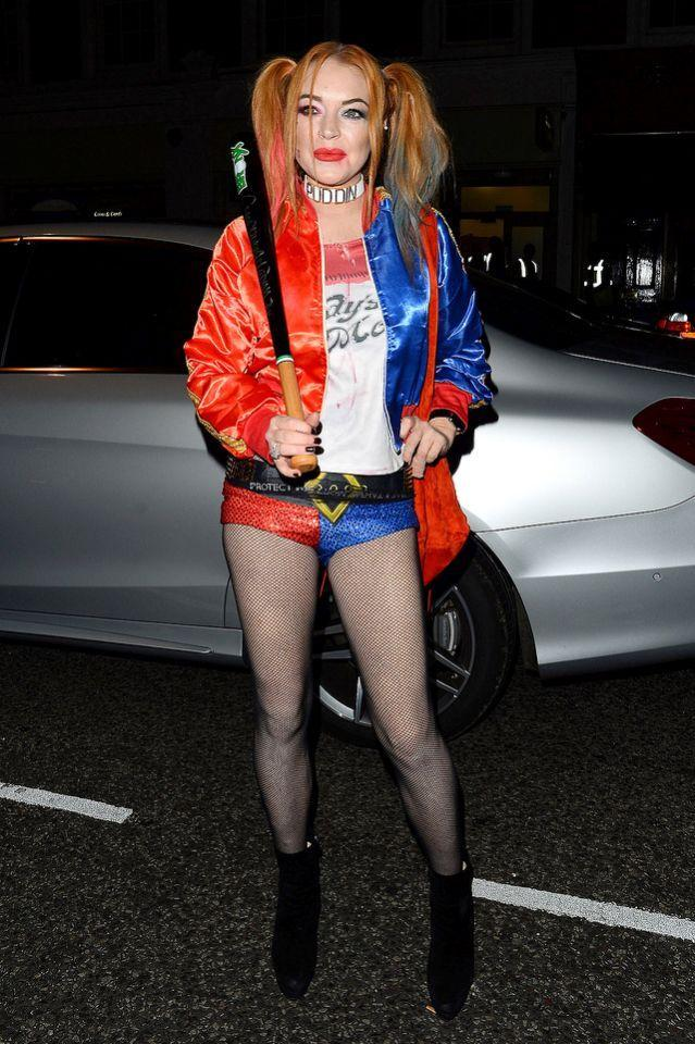 <p>LiLo went out in London dressed in one of the year's most popular Halloween costumes — <em>Suicide Squad'</em>s Harley Quinn. (Photo: AKM-GSI) </p>