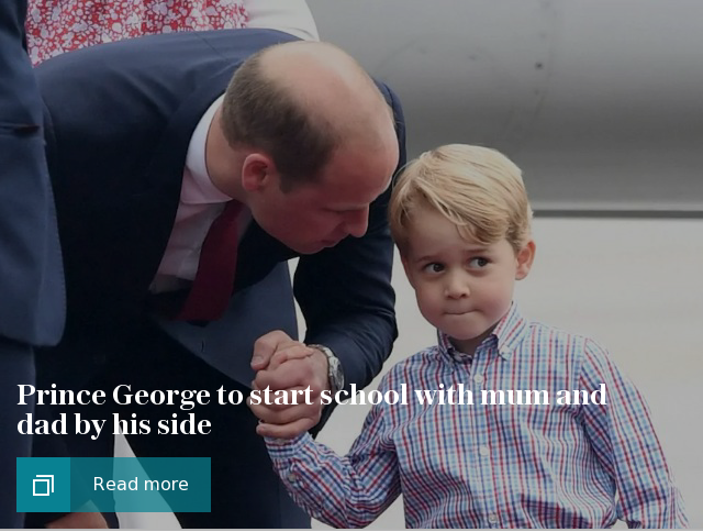 Prince George to start school with mum and dad by his side