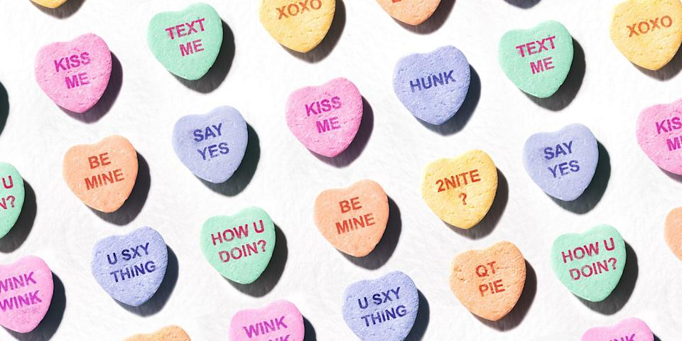 """<p>Valentine's Day is right around the corner, which means it's time to start stocking up on the best Valentine's Day candy! Even though it'll <a href=""""https://www.goodhousekeeping.com/holidays/valentines-day-ideas/g35140980/quarantine-valentines-day-ideas/"""" rel=""""nofollow noopener"""" target=""""_blank"""" data-ylk=""""slk:look a bit different this year"""" class=""""link rapid-noclick-resp"""">look a bit different this year</a>, there is still reason to celebrate the loved ones in your life by gifting them something as special and sweet as they are. Although <a href=""""https://www.bestproducts.com/eats/food/g830/assorted-chocolate-boxes/"""" rel=""""nofollow noopener"""" target=""""_blank"""" data-ylk=""""slk:classic chocolate boxes"""" class=""""link rapid-noclick-resp"""">classic chocolate boxes</a> sometimes steal the show, other candy varieties deserve some of the limelight, too. From gummies to chocolate variety packs, these tasty Valentine's Day candy choices are guaranteed to satisfy any sweetheart's sweet tooth. Just remember ... sharing is caring.</p><p><em><strong>Availability Note:</strong> Some limited-edition Valentine's Day candy options listed below may be available in stores only. </em></p>"""