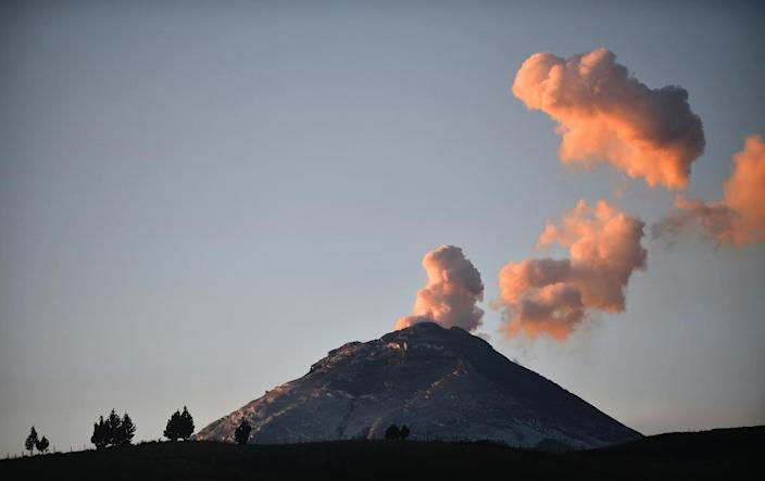 During the August eruption of Cotopaxi, authorities evacuated hundreds of people and closed tens of thousands of hectares (acres) of the national park that surrounds the 5,897-meter (19,347-foot) volcano (AFP Photo/Rodrigo Buendia)