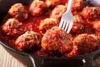 """<p>A good meatball should be packed with flavour and tender throughout. Although the process can be a labour of love, making them from scratch is really easy. Here's how to make perfect meatballs every time. </p><p>Get the <a href=""""https://www.delish.com/uk/cooking/recipes/a29185626/italian-meatball-recipe/"""" rel=""""nofollow noopener"""" target=""""_blank"""" data-ylk=""""slk:Best-Ever Italian Meatballs"""" class=""""link rapid-noclick-resp"""">Best-Ever Italian Meatballs</a> recipe. </p>"""
