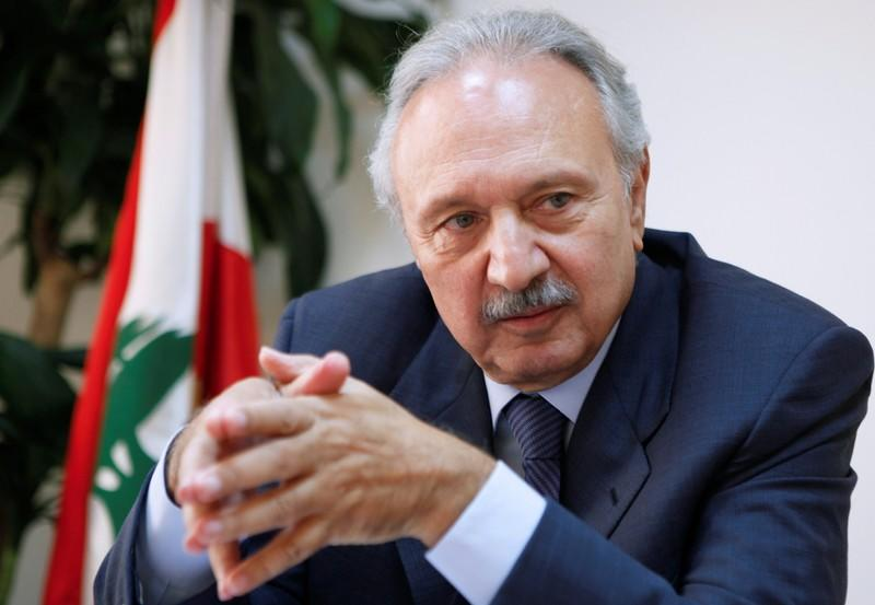 FILE PHOTO: Lebanon's then-Minister of Economy and Trade, Mohammad Safadi, speaks in 2010