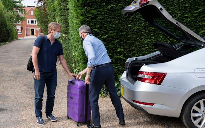 Grant Shapps, Secretary of State for Transport, arrives home early from his holiday in Spain. - JULIAN SIMMONDS