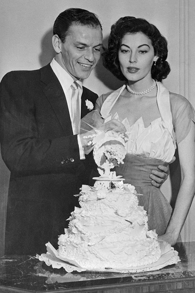 """<p>What began as an often described """"wild"""" affair between Frank and Ava turned into a real-deal relationship and marriage, which lasted from 1951 (when Frank's first wife gave him a divorce) to 1953 (when the couple formally announced their split). Frank and Ava had affairs with other people until their divorce was finalized in 1957.</p>"""