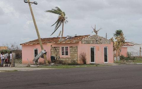 This image provided by the Antigua & Barbuda Broadcasting Services on September 07, 2017 shows a destroyed house on the Island of Barbuda after Hurricane Irma hit the Island - Credit: AFP