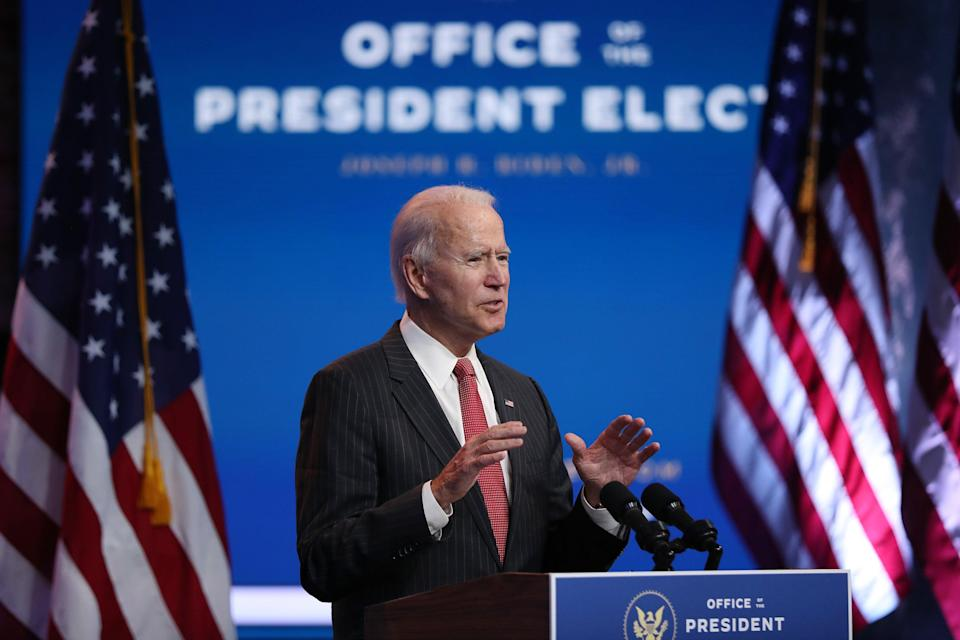 """Joe Biden's inauguration as president will be """"scaled down"""" because of Covid, according to his chief of staff (Getty Images)"""