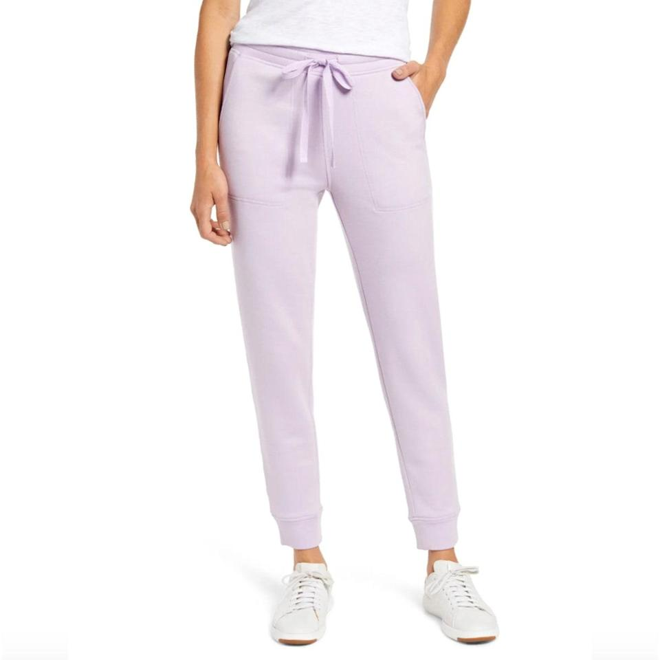 """Lean into the lavender trend with these pastel joggers. Can it be spring already? $70, Nordstrom. <a href=""""https://www.nordstrom.com/s/lou-grey-signaturesoft-sweatpants/5707255?"""" rel=""""nofollow noopener"""" target=""""_blank"""" data-ylk=""""slk:Get it now!"""" class=""""link rapid-noclick-resp"""">Get it now!</a>"""