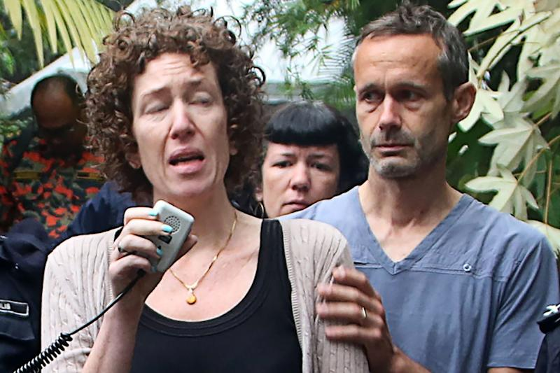 Meabh and Sebastien, the parents of missing 15-year-old Nora Quoirin (AFP/Getty Images)