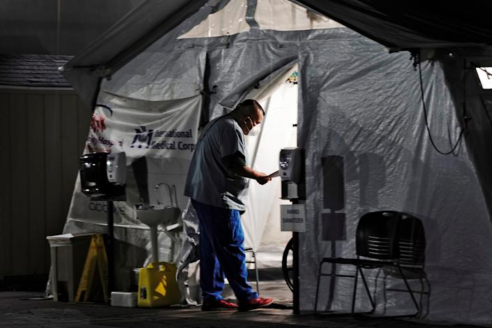 <p>File image: Los Angeles has been hit hard by the virus, with 746,000 coronavirus cases</p> (Screengrab/YouTube)