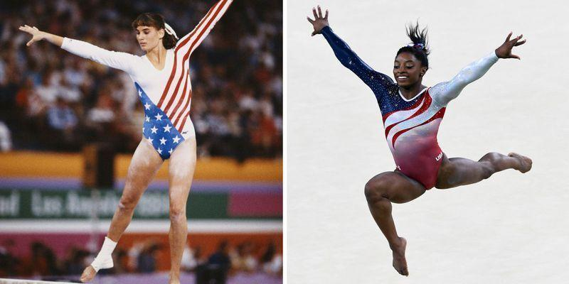 """<p>You just purchased a 'TEAM USA' t-shirt on Etsy, your plans for the next few weeks revolve around sports, and you're suddenly an expert on the ins and outs of gymnastics scoring. In other words: <a href=""""https://www.townandcountrymag.com/leisure/sporting/g37106860/tokyo-summer-olympics-best-photos/"""" rel=""""nofollow noopener"""" target=""""_blank"""" data-ylk=""""slk:the 2020 Tokyo Olympics"""" class=""""link rapid-noclick-resp"""">the 2020 Tokyo Olympics</a> have finally arrived (after a year-long delay!) and the time has come to watch <a href=""""https://www.townandcountrymag.com/leisure/sporting/g37106754/team-usa-gymnastics-women-tokyo/"""" rel=""""nofollow noopener"""" target=""""_blank"""" data-ylk=""""slk:the U.S. gymnastics team"""" class=""""link rapid-noclick-resp"""">the U.S. gymnastics team</a> compete. And also enjoy their outfits, naturally.</p><p>While the looks Olympic athletes wear might not <em>seem</em> like the most important thing ever, for the U.S. gymnastics team, they are! Points get deducted if their leotards aren't perfect, they're custom-made for each athlete, and they take years to design. They're the ultimate mix of style and functionality, and the designers who make them have been doing the most since back in the 1930s.</p><p>This year's leotards are from GK Elite, <a href=""""https://www.wfmz.com/news/feature-belt/muhlenberg-township-based-gk-elite-will-design-team-usa-olympic-leotards/article_69136bde-e70f-11eb-b852-77f2153c1bbb.html"""" rel=""""nofollow noopener"""" target=""""_blank"""" data-ylk=""""slk:and feature"""" class=""""link rapid-noclick-resp"""">and feature</a><a href=""""https://www.wfmz.com/news/feature-belt/muhlenberg-township-based-gk-elite-will-design-team-usa-olympic-leotards/article_69136bde-e70f-11eb-b852-77f2153c1bbb.html"""" rel=""""nofollow noopener"""" target=""""_blank"""" data-ylk=""""slk:7,600 Swarovski crystals"""" class=""""link rapid-noclick-resp""""> 7,600 Swarovski crystals</a> each. """"There's a lot of research and development that goes into it,"""" Kelly McKeown, the chief design officer for GK Elite, told <em>Cos"""