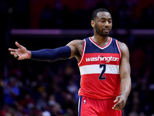 John Wall of the Washington Wizards unleashed his fury on the referees after a game against the Utah Jazz (AFP Photo/Harry How)