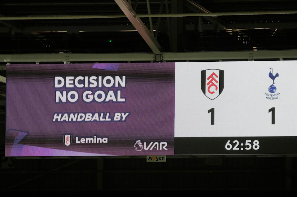 Fulham's 'goal' vs Tottenham would now stand with the coming changesGetty Images