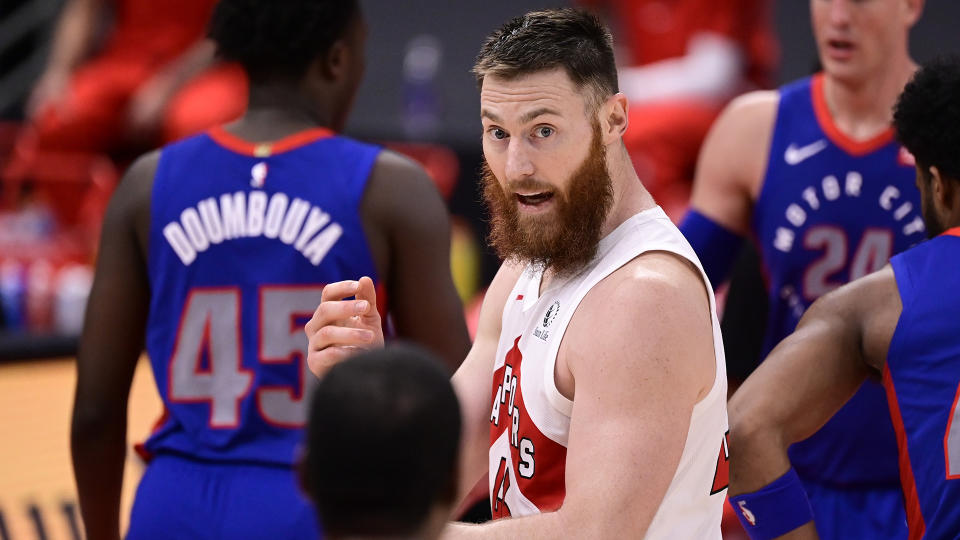 Aron Baynes had a season to forget with the Raptors. (Photo by Douglas P. DeFelice/Getty Images)
