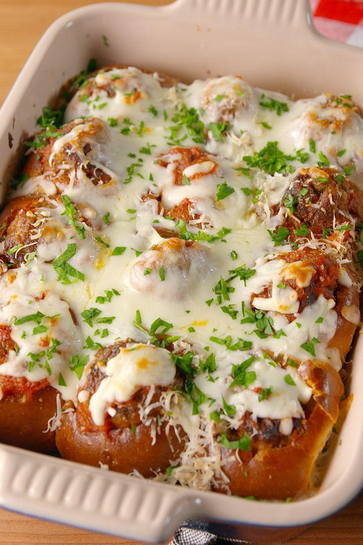 """<p>They may be mini, but they're a <em>major</em> crowd pleaser.</p><p>Get the recipe from <a href=""""https://www.delish.com/cooking/recipe-ideas/recipes/a51812/mini-meatball-parms-recipe/"""" rel=""""nofollow noopener"""" target=""""_blank"""" data-ylk=""""slk:Delish"""" class=""""link rapid-noclick-resp"""">Delish</a>.</p>"""