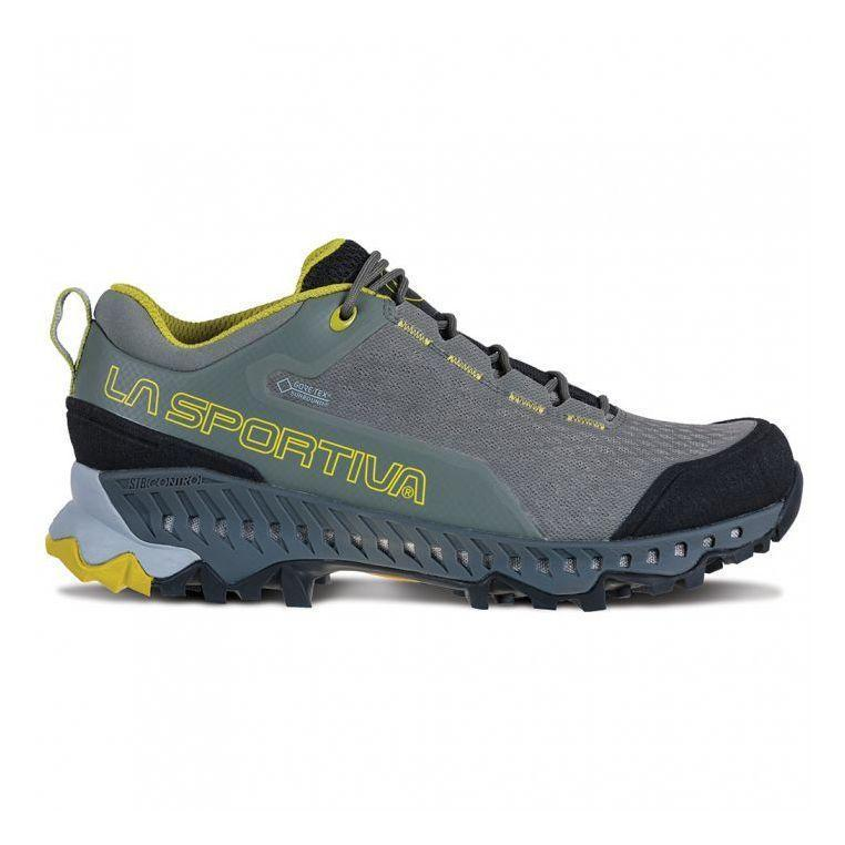 "<p><strong>La Sportiva</strong></p><p>rei.com</p><p><strong>$190.00</strong></p><p><a href=""https://go.redirectingat.com?id=74968X1596630&url=https%3A%2F%2Fwww.rei.com%2Fproduct%2F128759&sref=https%3A%2F%2Fwww.prevention.com%2Ffitness%2Fworkout-clothes-gear%2Fg19791835%2Fbest-hiking-shoes-for-women%2F"" rel=""nofollow noopener"" target=""_blank"" data-ylk=""slk:Shop Now"" class=""link rapid-noclick-resp"">Shop Now</a></p><p>A serious Vibram sole help's La Sportiva's Spire stand out from the competition—the thing almost looks like a tire, and it's meant to help you past any obstacle you might face on the trail. Beyond its impressive grip, this shoe is also <strong>equipped with breathable GORE-TEX waterproofing and impressive shock-absorption</strong>. ""They are a bit pricey, but foot comfort and dryness are well worth the price,"" one REI buyer explains.</p>"