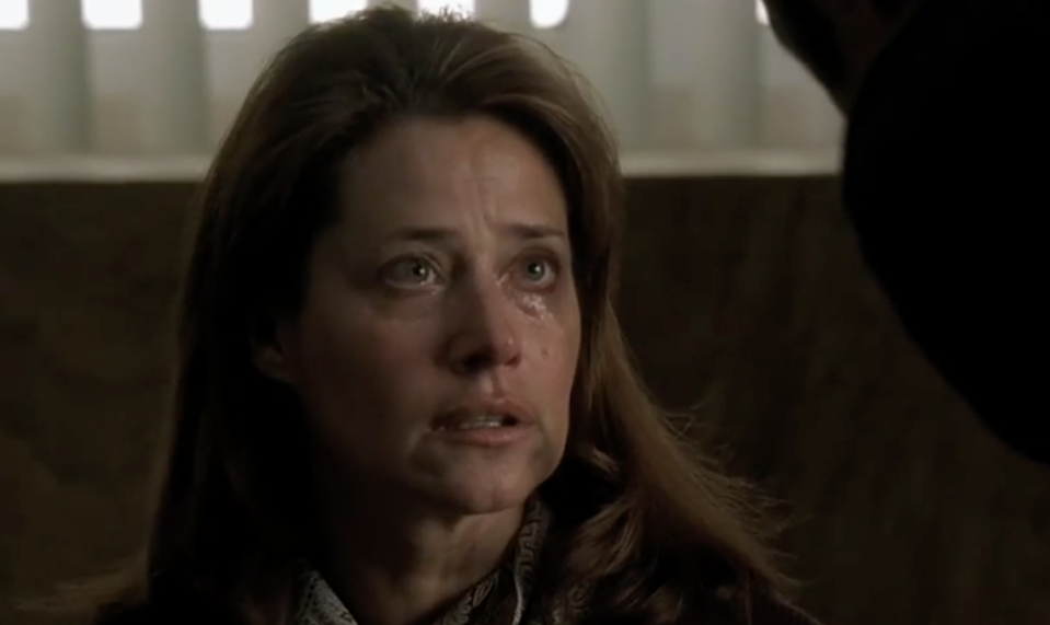 Lorraine Bracco as Jennifer Melfi in the pivotal 'Employee of the Month' episode of 'The Sopranos' (Photo: HBO)