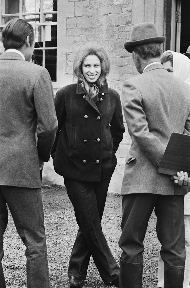 Princess Anne at the Badminton Horse Trials in South Gloucestershire, U.K., 25th April 1971