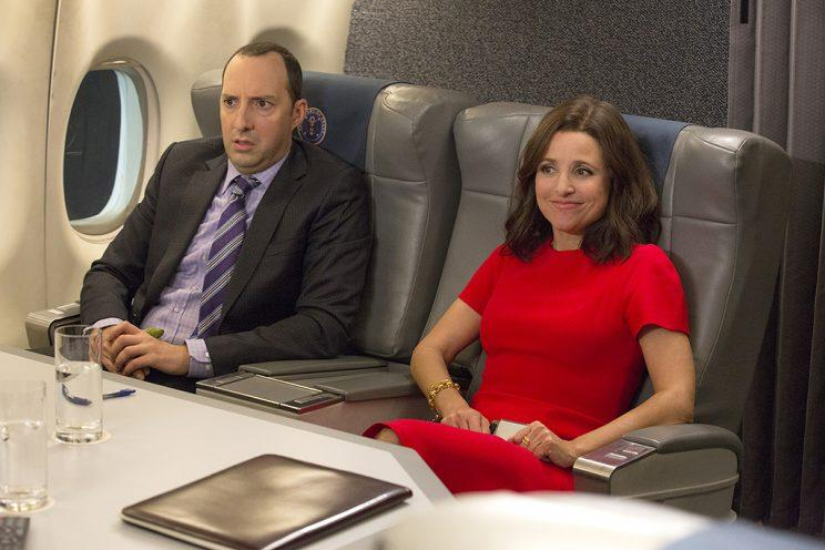 Tony Hale and Julia Louis-Dreyfus in HBO's Veep. (Photo: HBO)
