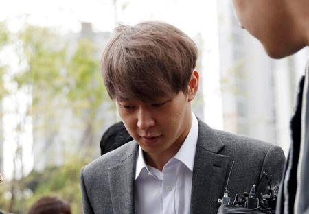 Park Yoo-chun, a K-pop idol singer, arrives at the Suwon district court in Suwon, South Korea, April 26, 2019.  REUTERS/Kim Hong-Ji