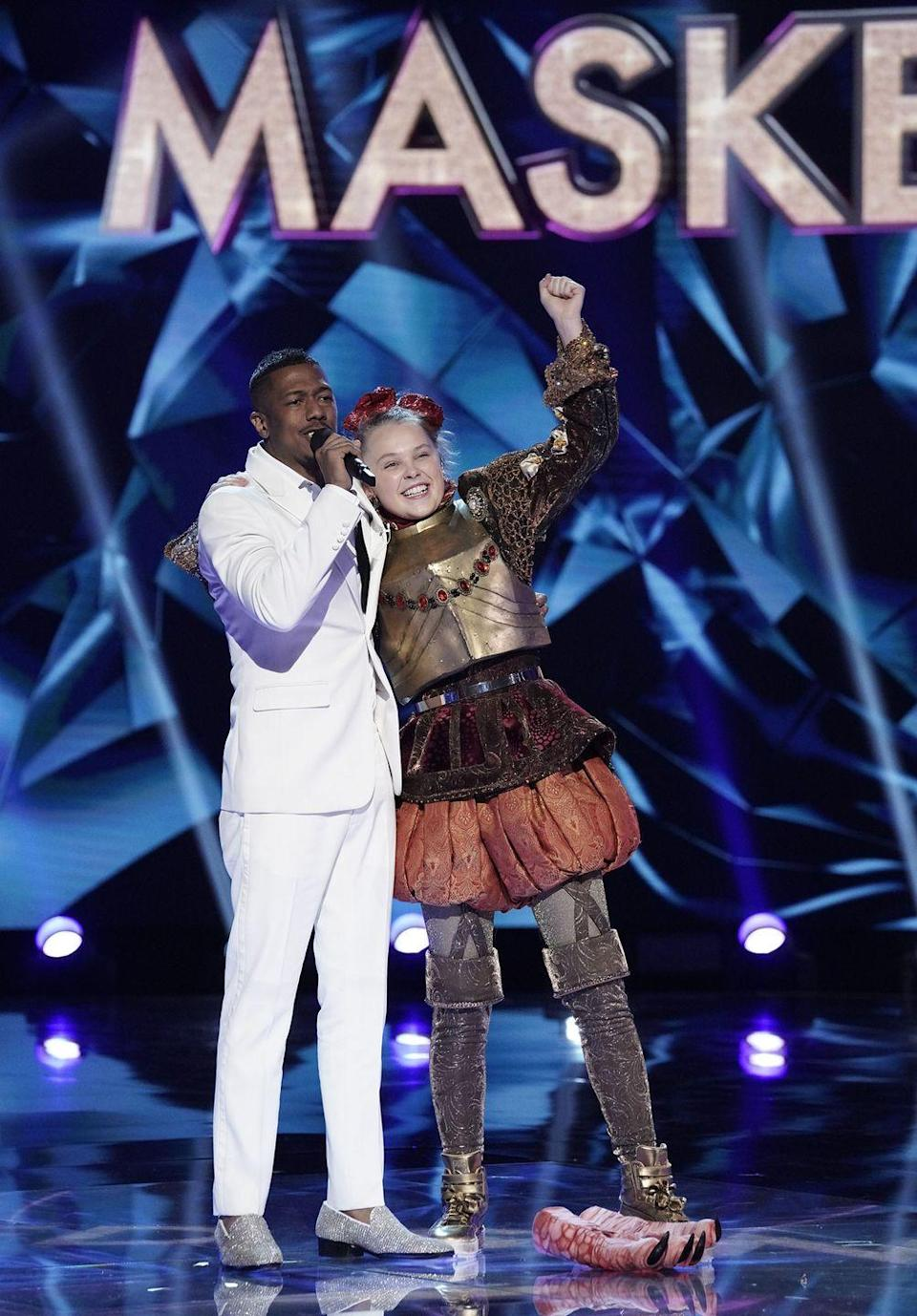 """<p>From Dr. Drew to Jojo Siwa, it's always a big surprise to the audience when the mask comes off — and production tries to cast the biggest names possible. """"We strive to get a cross section of celebrities from all walks of life and the bigger the name the better,"""" executive producer Craig Plestis told <a href=""""https://www.express.co.uk/showbiz/tv-radio/1229957/The-Masked-Singer-How-celebrities-chosen-stars-contract-ITV-series"""" rel=""""nofollow noopener"""" target=""""_blank"""" data-ylk=""""slk:Express"""" class=""""link rapid-noclick-resp"""">Express</a>.</p>"""