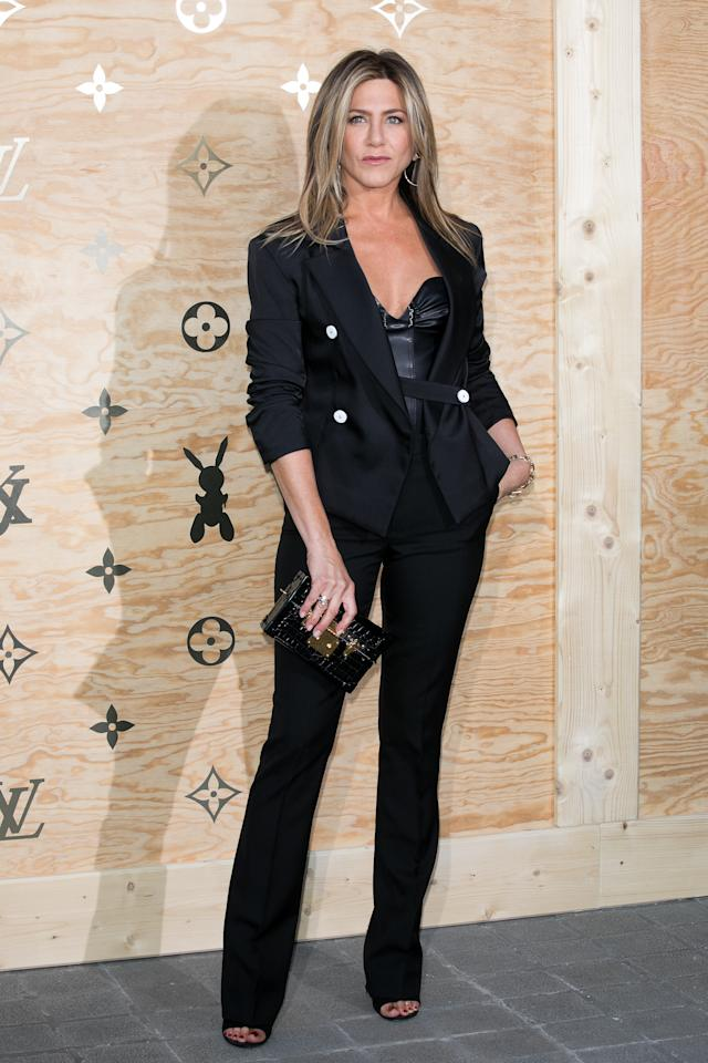 <p>Wearing Louis Vuitton. <em>[Photo: Getty]</em> </p>