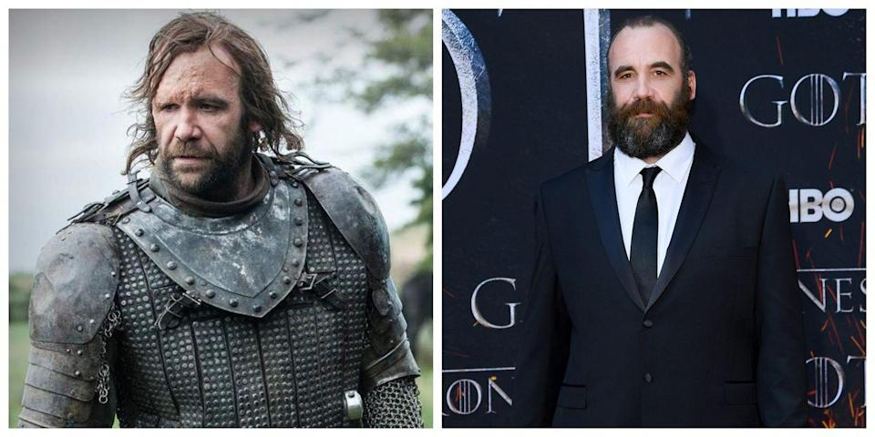 <p>On<em> Game of Thrones</em>, The Hound is known for being, in many of the character's words, extremely ugly. The same cannot be said for Rory McCann, the actor who plays him. This is another actor who definitely spent an extraordinarily long time in the makeup chair for filming—his character had some gnarly scars.</p>