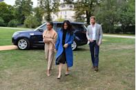 "<p>Meghan Markle arrived <a href=""https://www.townandcountrymag.com/society/tradition/a23334084/meghan-markle-mother-doria-ragland-cookbook-launch-appearance/"" rel=""nofollow noopener"" target=""_blank"" data-ylk=""slk:with her mom, Doria Ragland"" class=""link rapid-noclick-resp"">with her mom, Doria Ragland</a>, and Prince Harry, to the launch of the <em>Together </em>cookbook <a href=""https://www.townandcountrymag.com/style/fashion-trends/a23322795/meghan-markle-together-cookbook-launch-outfit-blue-smythe-coat/"" rel=""nofollow noopener"" target=""_blank"" data-ylk=""slk:wearing a blue coat by Smythe"" class=""link rapid-noclick-resp"">wearing a blue coat by Smythe</a> with a black top, a black skirt by Misha Nonoo, and pumps <a href=""https://www.sarahflint.com/products/jay-pump-100-black-suede?variant=28249886273"" rel=""nofollow noopener"" target=""_blank"" data-ylk=""slk:by Sarah Flint."" class=""link rapid-noclick-resp"">by Sarah Flint. </a></p>"