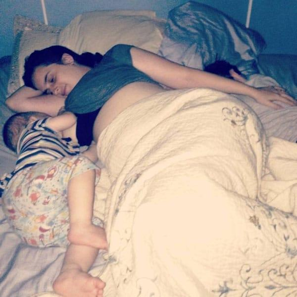 My Kids Are Welcome To Co-Sleep For As Long As They'd Like: mother and son sleeping in bed