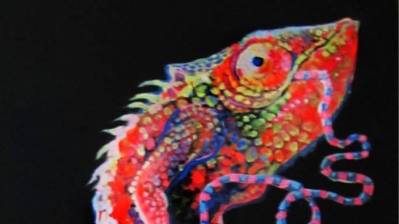 Karma chameleon: Artist forgives painting's thieves after one returns it face-to-face