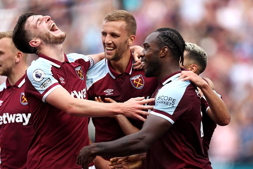 Declan Rice, Tomas Soucek, and Michail Antonio are all expcted to start tonight (Getty Images)