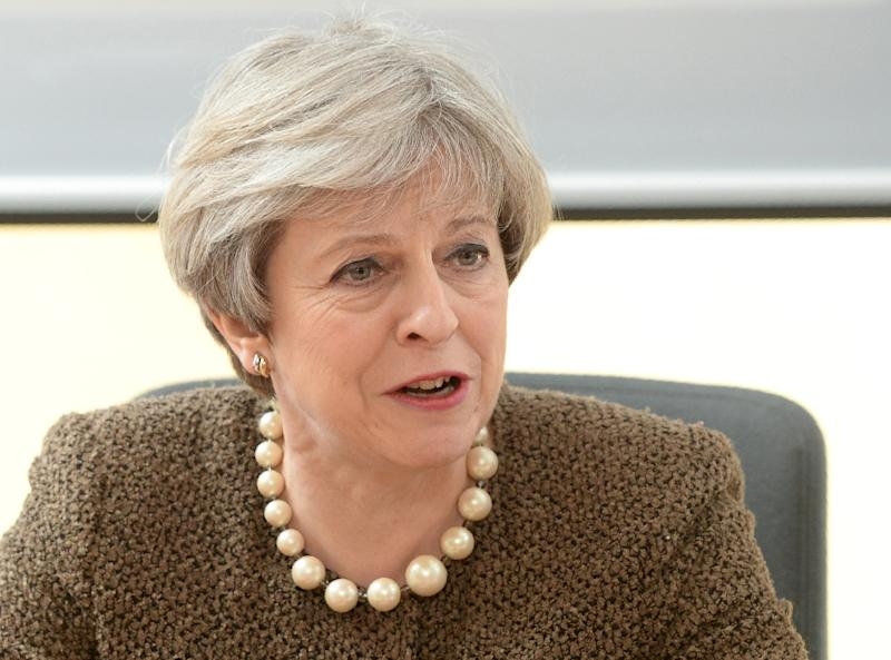 British Prime Minister Theresa May will mark the EU's 60th anniversary by staying in London and preparing to trigger Brexit (AFP Photo/Ben Birchall)