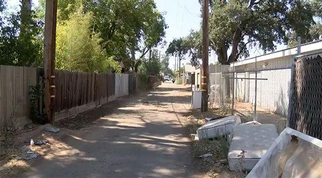 The Fresno alleyway where the bodies were found. Source: YourCentralValley.com