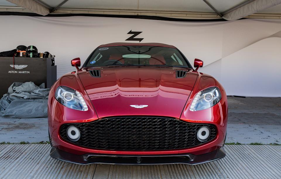 CHICHESTER, UNITED KINDOM - JULY 4: The Aston Martin Vanquish Zagato Coupe seen at Goodwood Festival of Speed 2019 on July 4th in Chichester, England. The annual automotive event is hosted by Lord March at his Goodwood Estate. (Photo by Martyn Lucy/Getty Images)