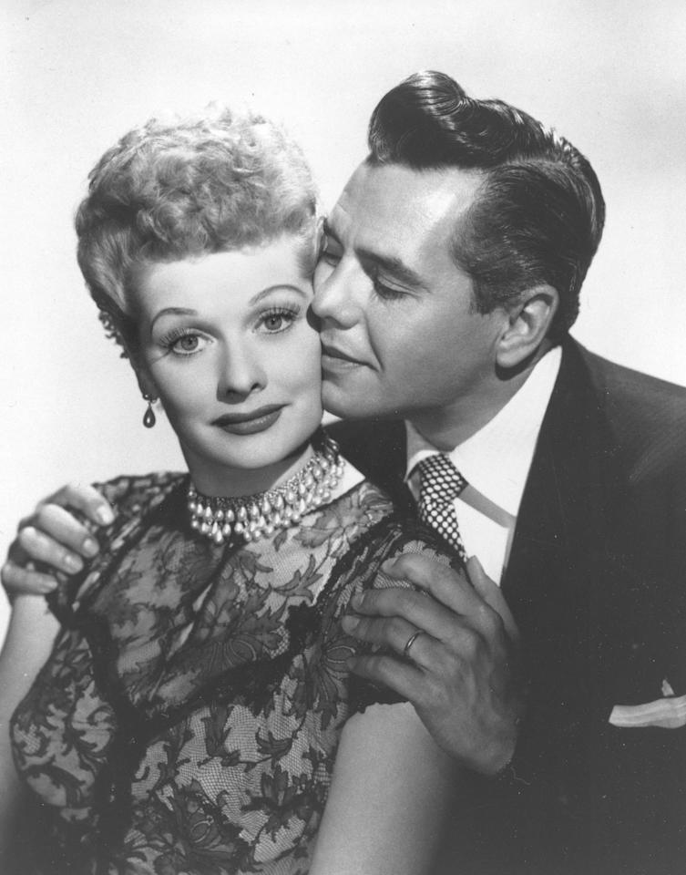 """In 1952, the country experienced I Love Lucy mania.  The black and white sitcom first aired on CBS in 1951 and Americans quickly fell in love with the fiery, wacky redhead and her excitable Cuban husband.  In recognition of the show's impact and popularity, Lucille Ball and Desi Arnaz were invited to host the Academy of Television Arts and Science's fourth annual Emmy Awards dinner at Ambassador Hotel's Coconut Grove.  Perhaps the most memorable moment of the evening came during Red Skelton's acceptance speech for the """"excellence in comedy"""" award.  Said Skelton, """"Ladies and gentleman, you've given this to the wrong redhead.  I don't deserve this.  It should go to Lucille Ball.""""  The Reporter summed up the feeling in the room: """"There wasn't a dry eye in the house when Red Skelton did his best to give his second Emmy to Lucille Ball and Lucy herself, technically a loser, won more friends than a dozen Emmys could ever compensate for.""""  Ball may not have received a dozen Emmys but she did tally thirteen nominations and four wins throughout her career.  In 1962, she earned one of many """"firsts,"""" becoming the first woman to run a major television studio, Desilu.  You can watch I Love Lucy reruns on the plasma screen today, a testament to the great comedienne's staying power."""
